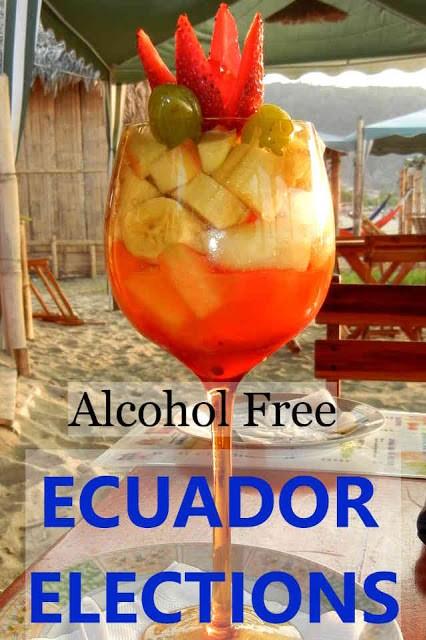 Alcohol free fruity drink, Puerto Lopez, Ecuador