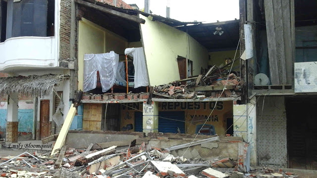 Day after 7.8 Ecuador earthquake, Puerto Lopez