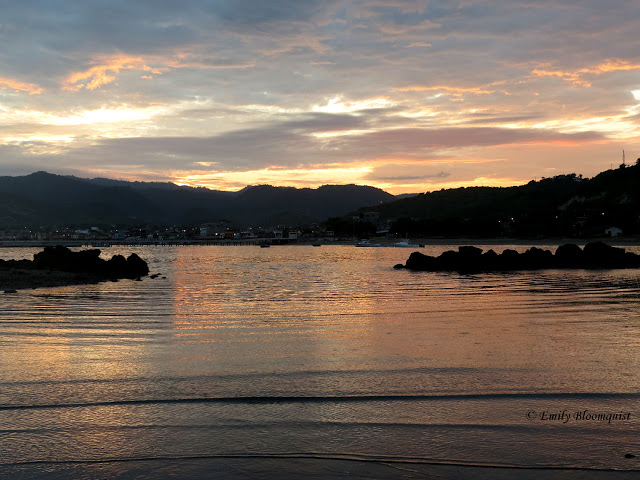 Sunrise over Puerto Lopez