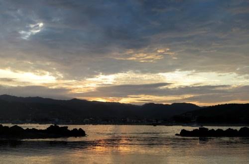 Sunrise over Puerto Lopez, Ecuador
