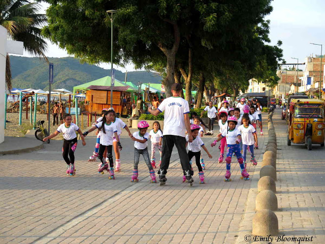 Puerto Lopez Skating club on malecon