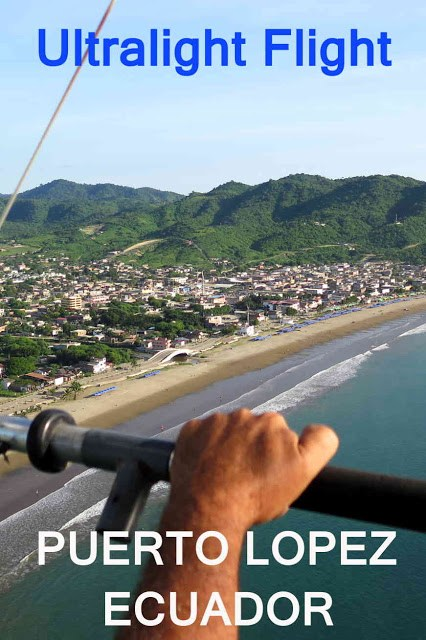 Ultralight flight over Puerto Lopez, Ecuador
