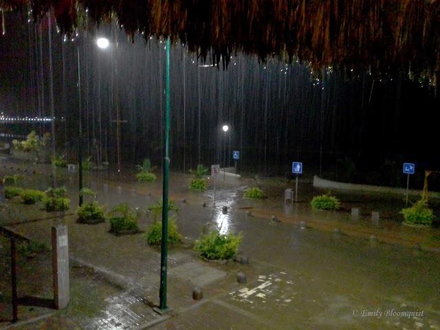 Puerto Lopez rainy season from Victor Hugo Hotel