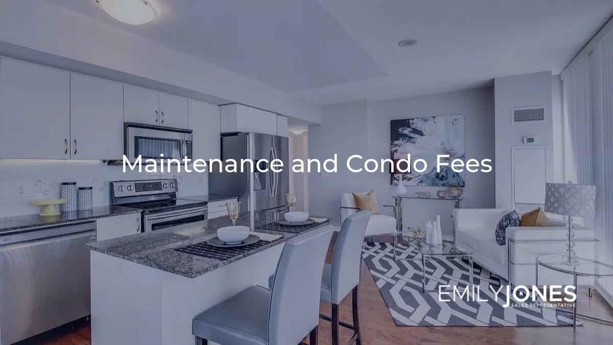 maintenance and condo fees