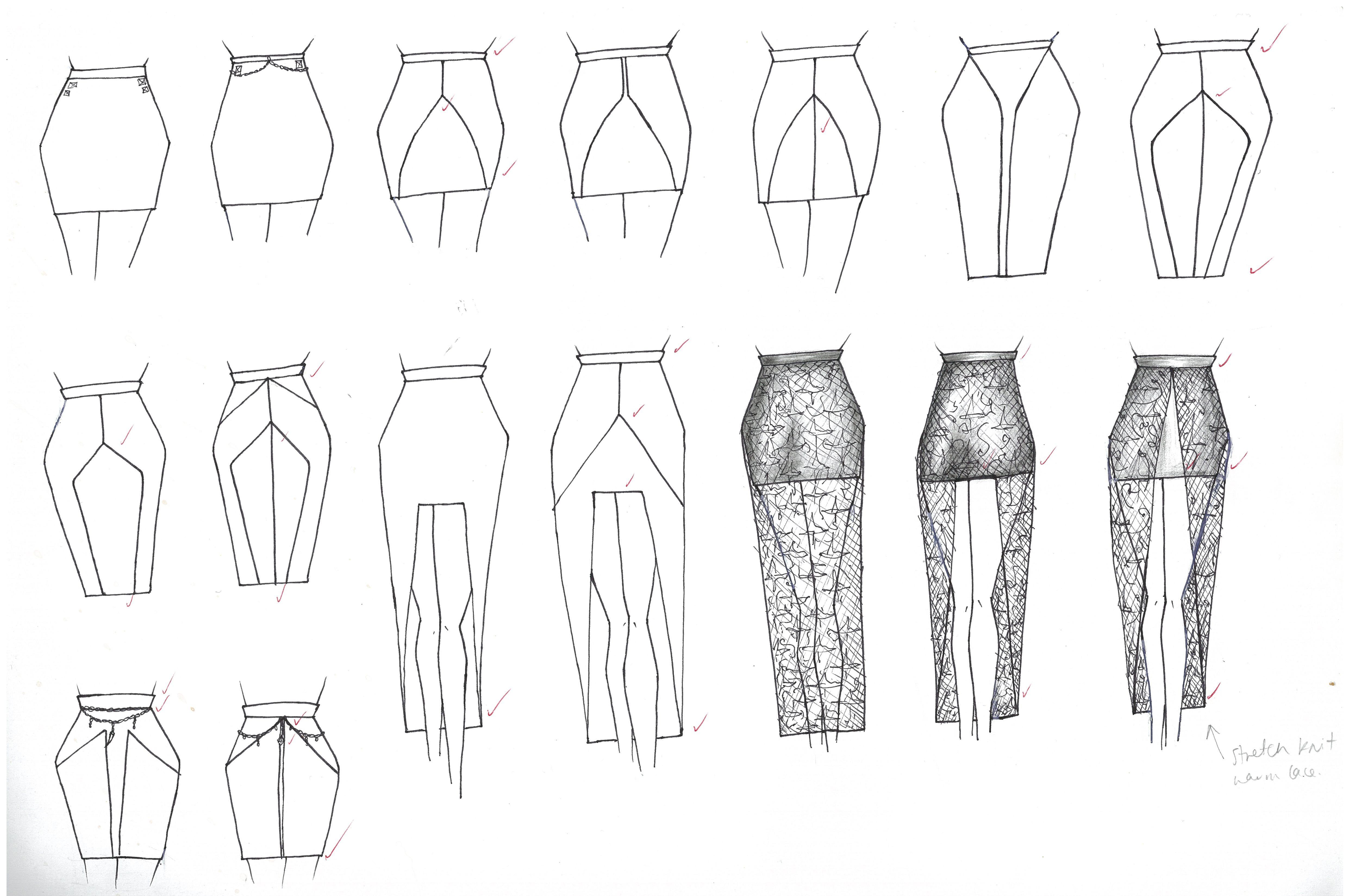 Skirts Midi Panels Waterfall-Hem Embellishment Lace
