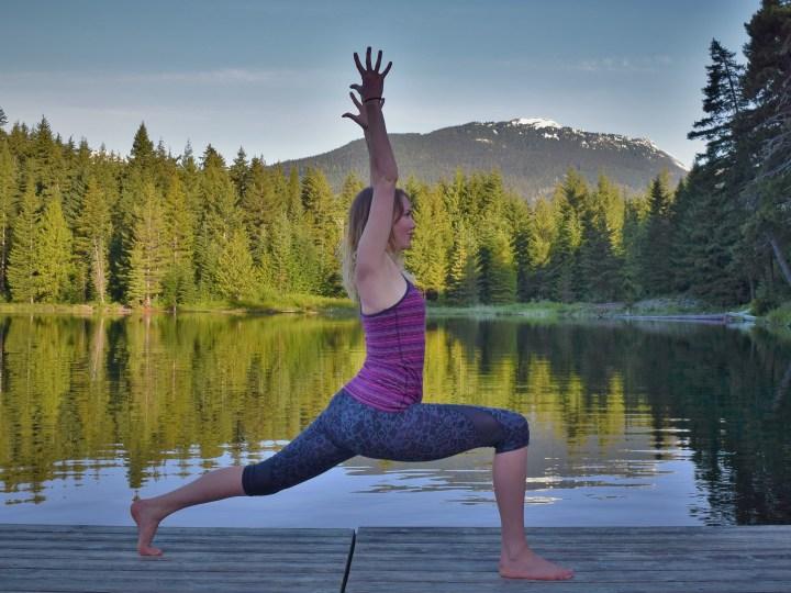 whistler yoga lunge