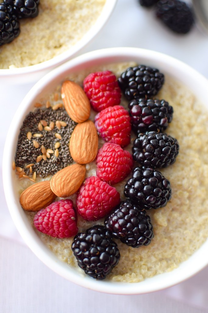 Berry Quinoa Breakfast Bowl for Immune Health
