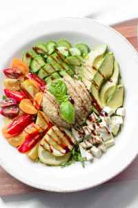 Caprese Salad Grain Bowl from Emily Kyle Nutrition