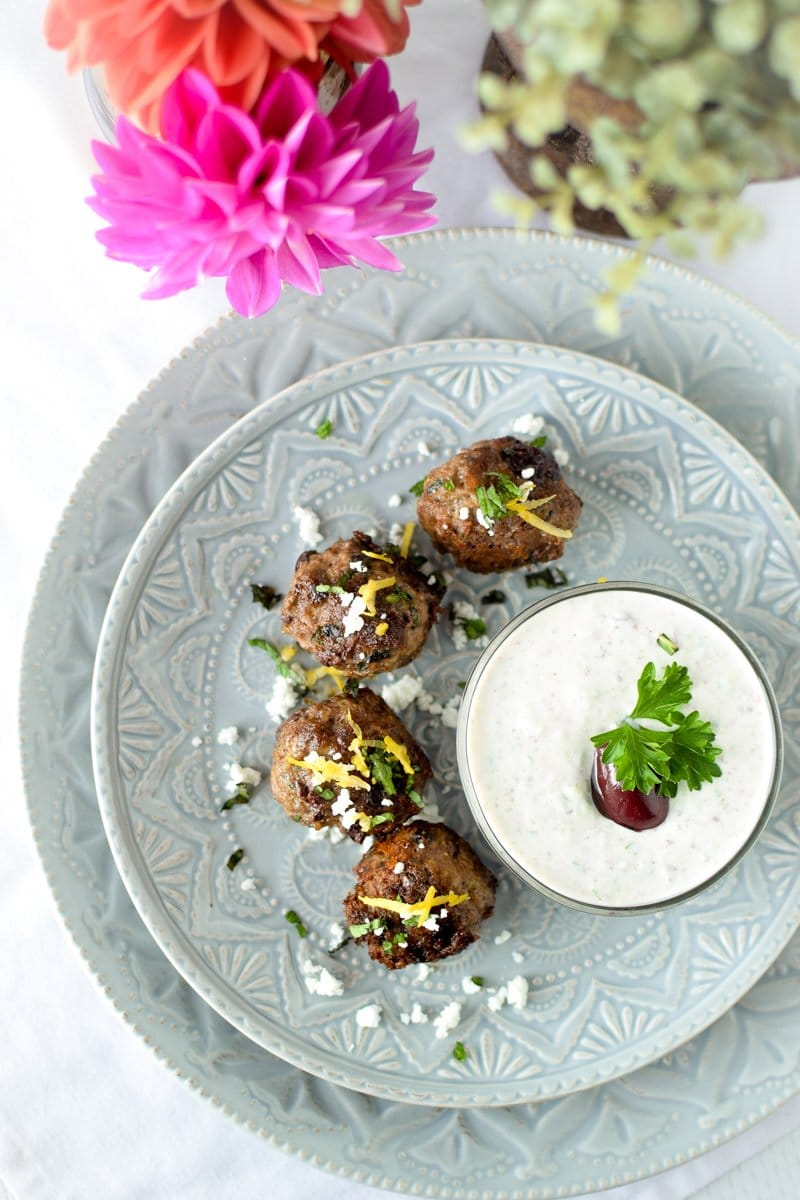 Greek Lamb Meatballs by Emily Kyle Nutrition