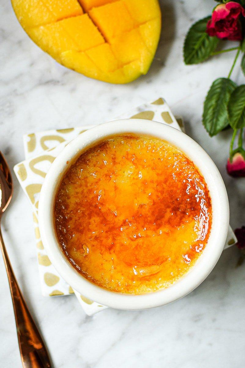 Dairy-Free Mango Creme Brulee
