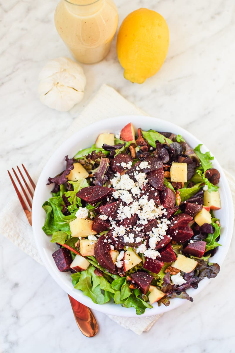 Beet and Walnut Salad by Emily Kyle12 - Beet & Walnut Cannabis Leaf Salad