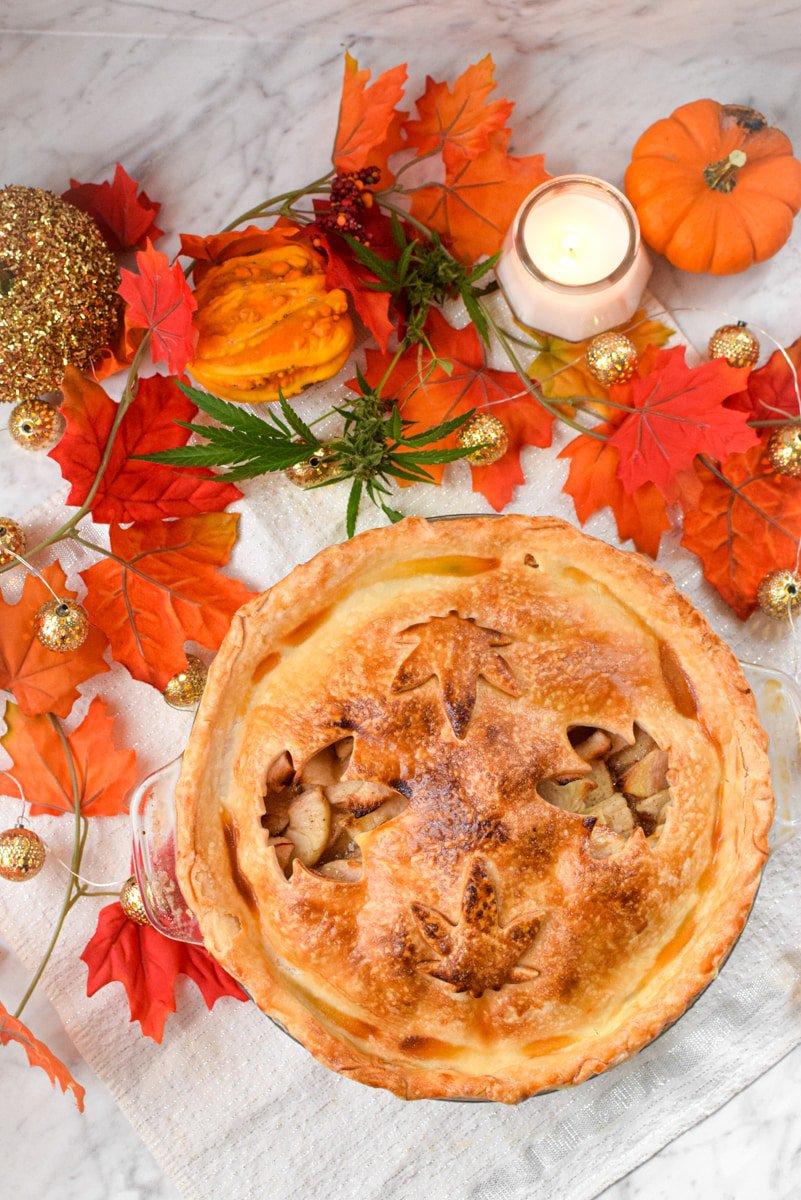 Cannabis Apple Pie by Emily Kyle Nutrition6 - Classic Homemade Cannabis Apple Pie