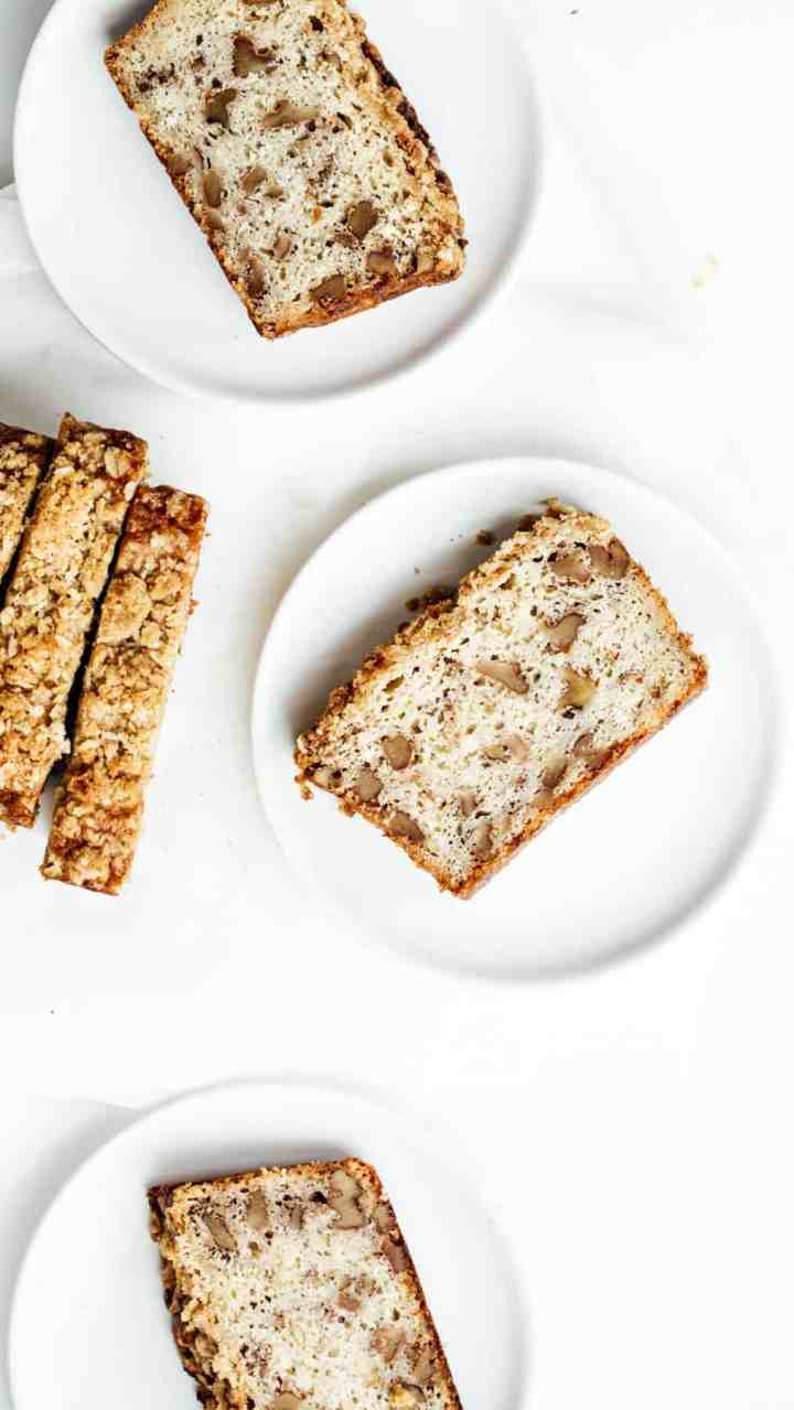 Slice of Sourdough Walnut Banana Bread