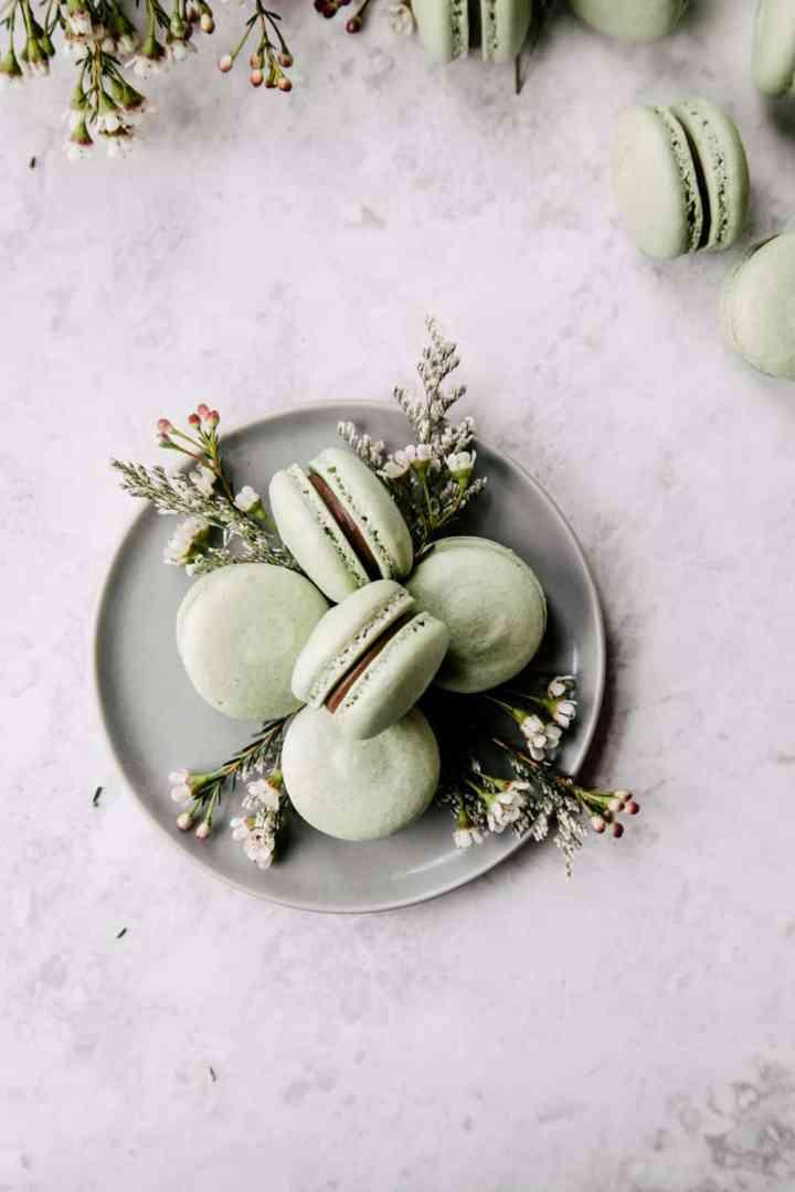 Spiced Pear Ganache Macarons