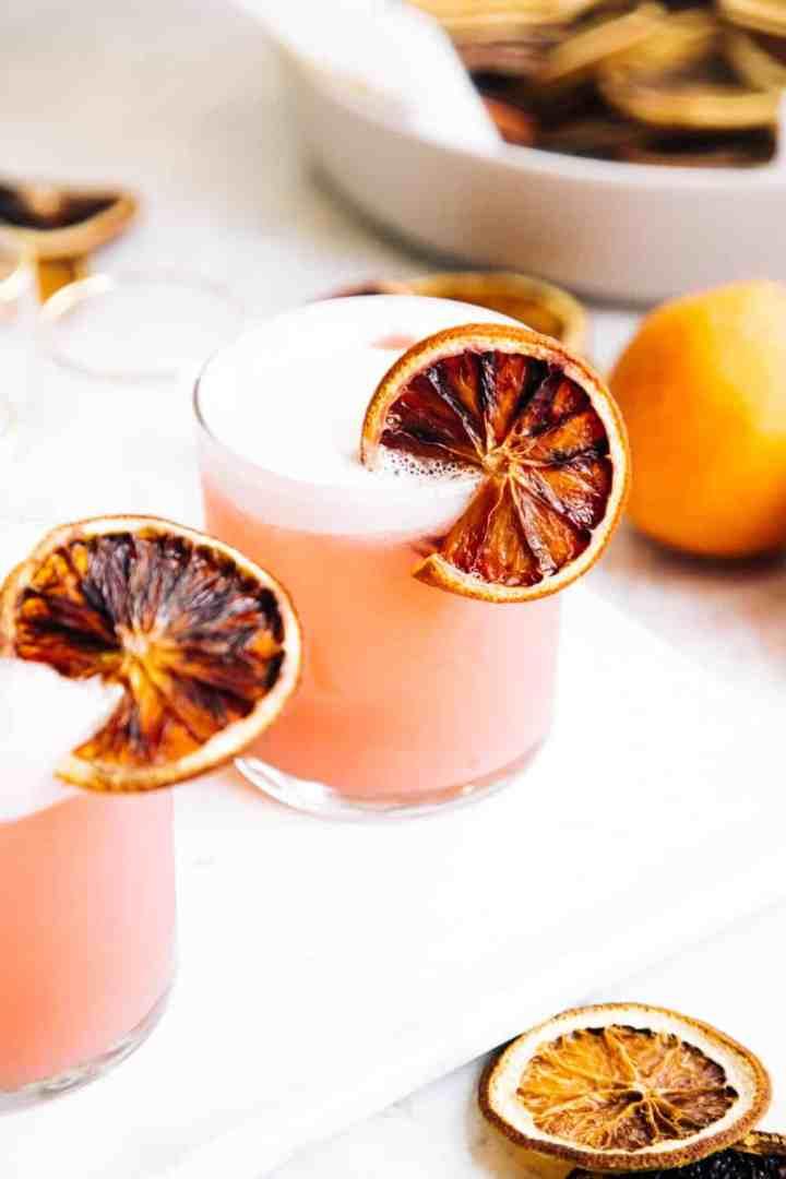 Blood Orange Pisco Sour