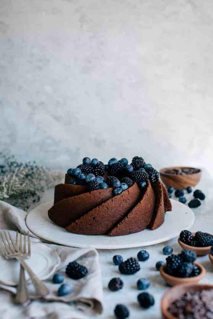 Malted Chocolate Bundt Cake