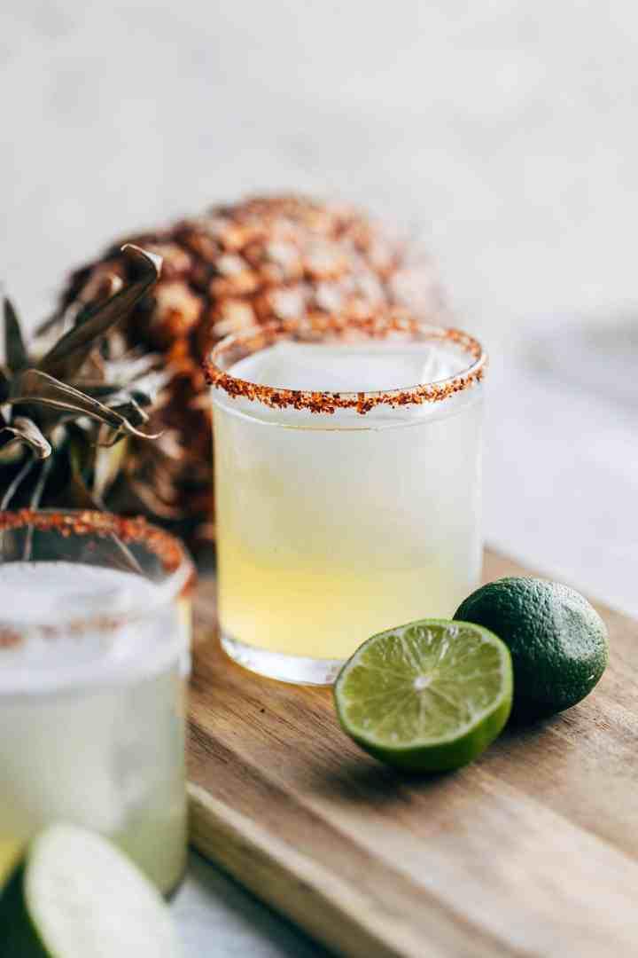 Coconut & Pineapple Margarita in a glass