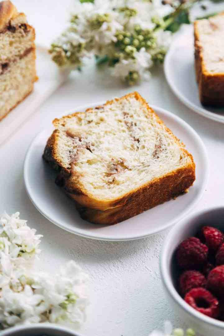 Slice of Raspberry Pecan Babka