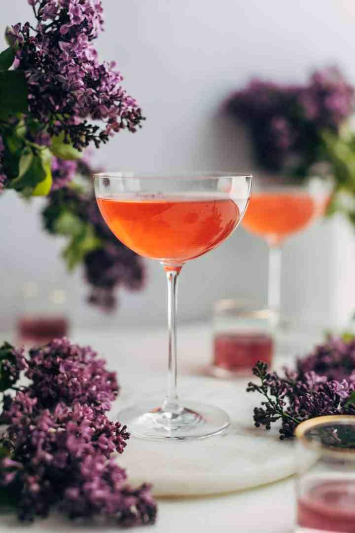 Blackberry & Lilac Gimlet