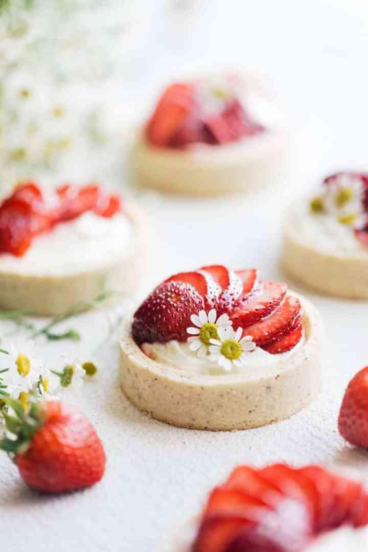 Strawberries & Cream Bakery Style Mini Tarts