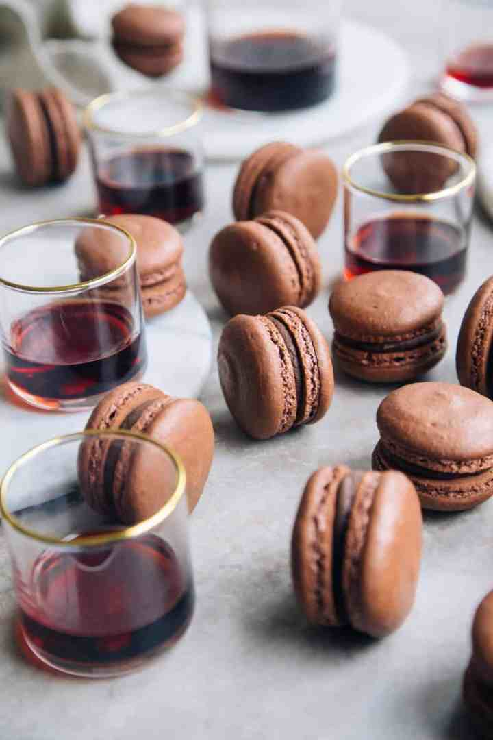 Port Wine Ganache Macarons
