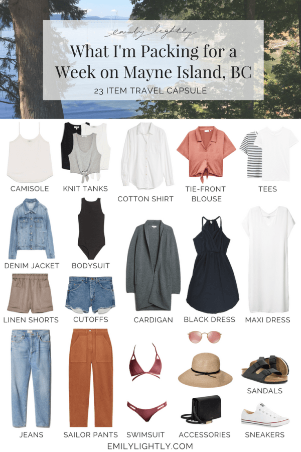 What I'm Packing for a Week on Mayne Island, BC