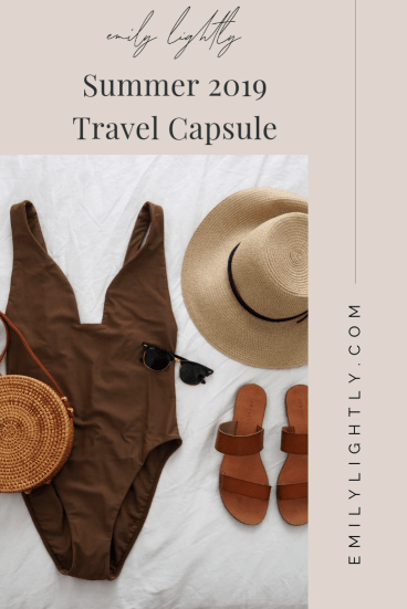 What's in My Summer 2019 Travel Capsule - Emily Lightly