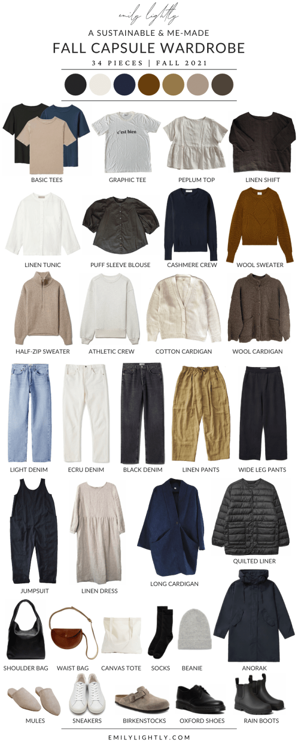 A sustainable & me-made fall capsule wardrobe