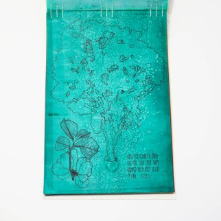 Fifty Trees artist book by Emily Longbrake 16