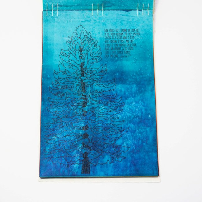 Fifty Trees artist book by Emily Longbrake 19