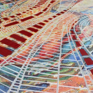 Rainbow Forest panel 4 detail