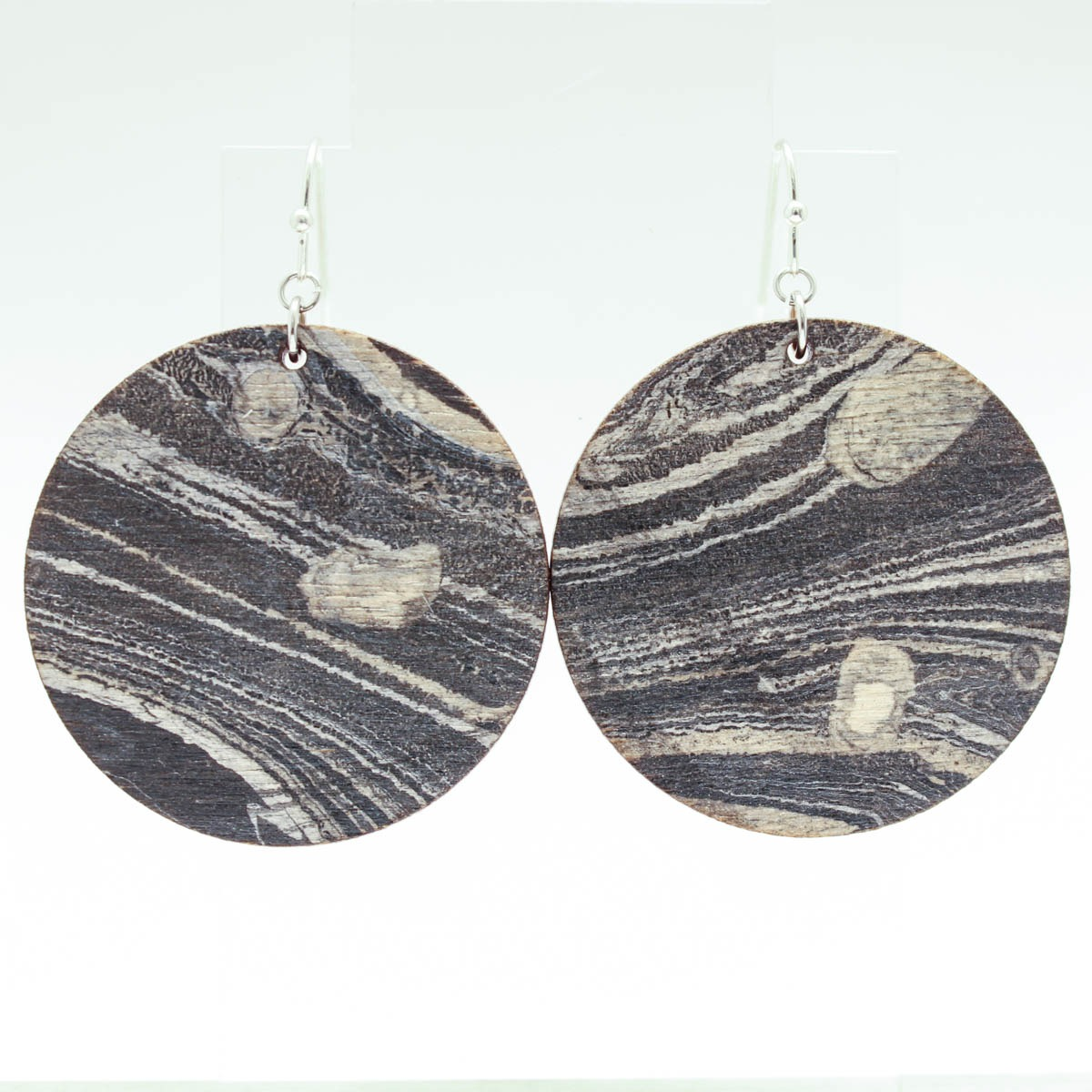 Round Marbled Earrings – Large