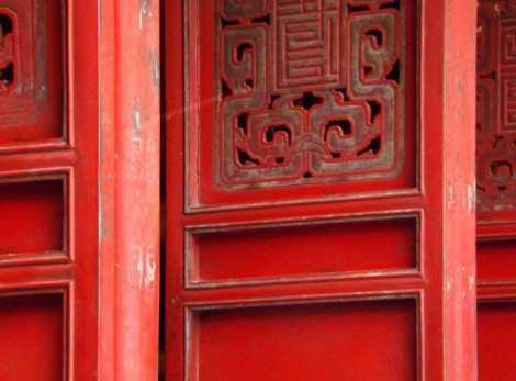 Temple doors in Hanoi