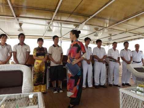 Staff on board L'Amant