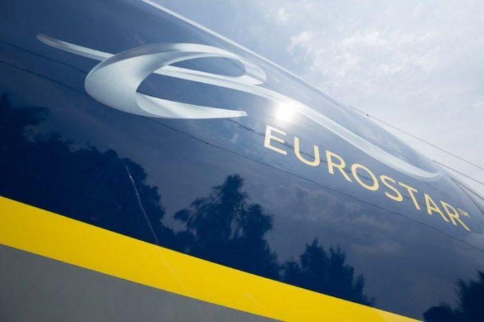 Close up of the Eurostar logo