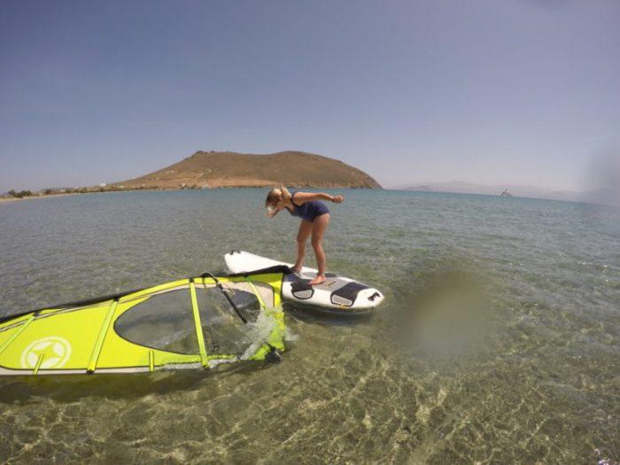 Windsurfing in Paros