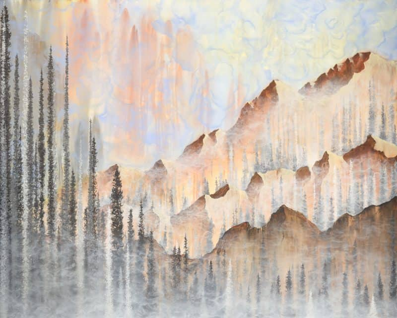landscape art, nature art, mountain art