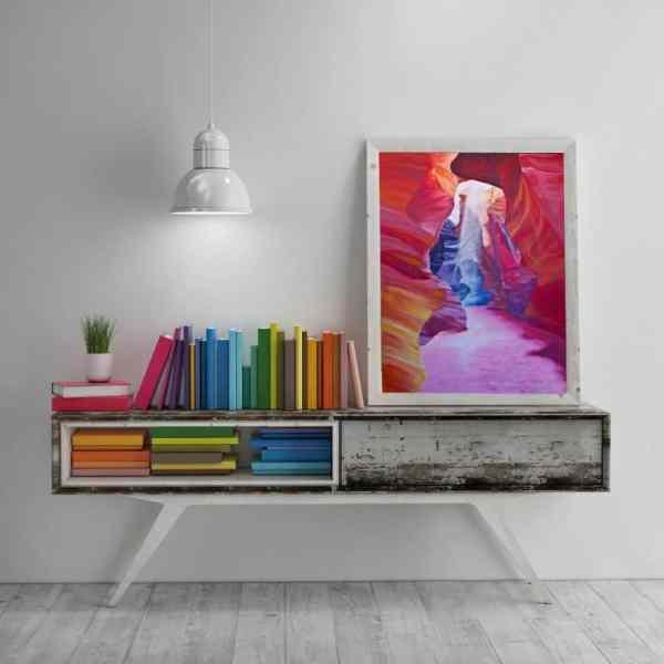 nature art, colorful art, desert landscape