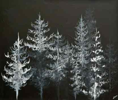 nature art, black and white art, tree art