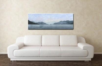 panoramic art, Montana art, mountain art