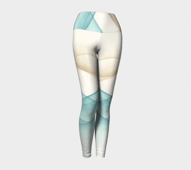 Contour Leggings, Yoga Leggings, Abstract Leggings