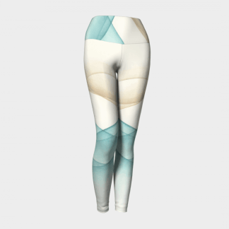 Contour Leggings, Yoga Leggings, Abstract Leggings