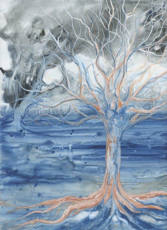 tree art, nature art, tree painting