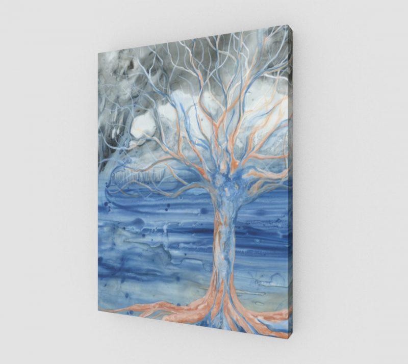 tree art print, abstract tree, nature art print