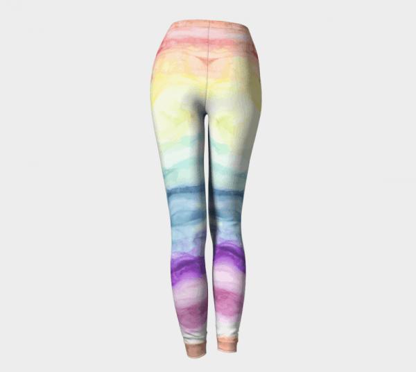 Watercolor Leggings, Rainbow Leggings, Rainbow Tights