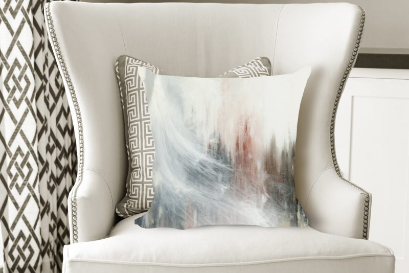 abstract pillow, modern pillow, art pillow