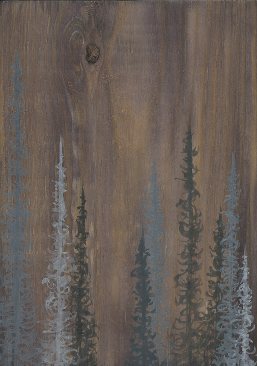 tree art, wood art, nature art, upcycled art, forest art, modern landscape art, wood grain art