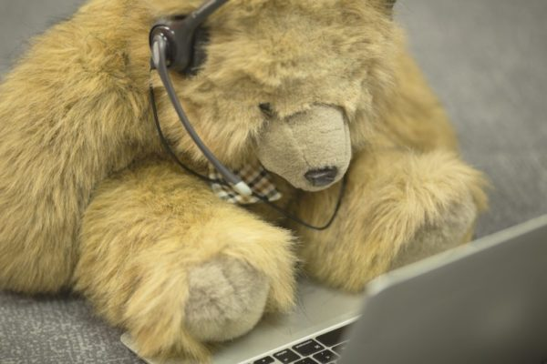 """Someone's working """"bear-y"""" hard (sorry, had to)."""
