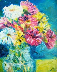 """Flower Fetish I"" - c.2008 - Oil on Canvas - 11x14 - Private Collection"