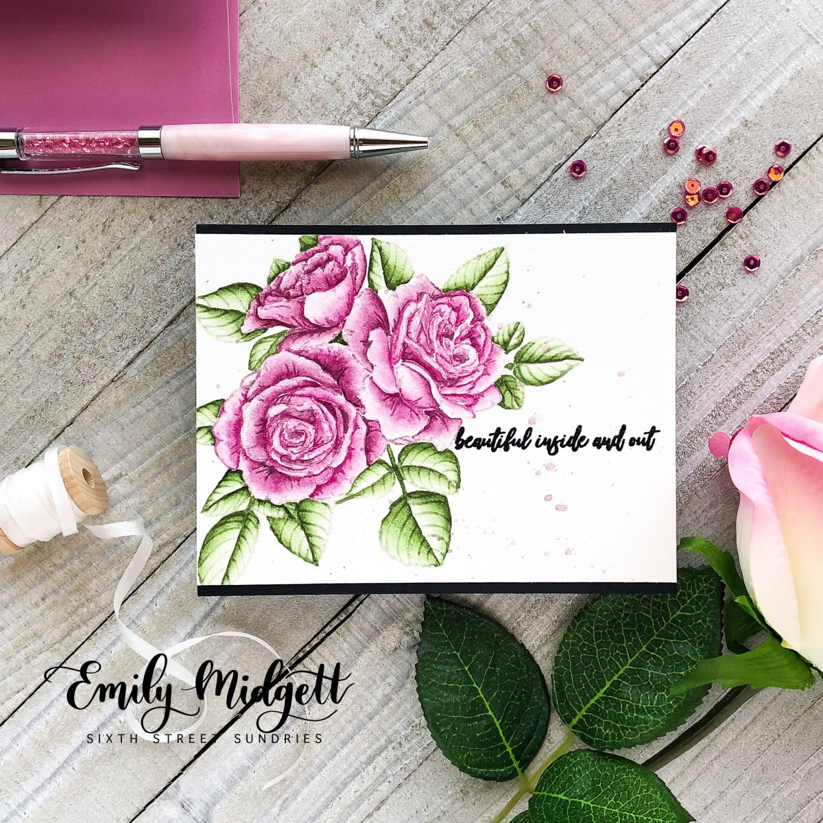 No-line watercoloring with Picket Fence Studios
